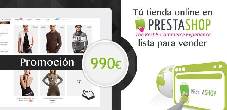 Diseño Tienda Online PrestaShop 990 € Barcelona