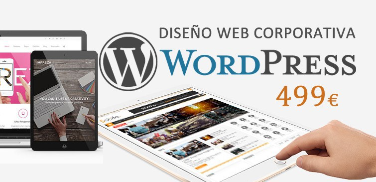 Diseño web corporativa WordPress 499 € Barcelona